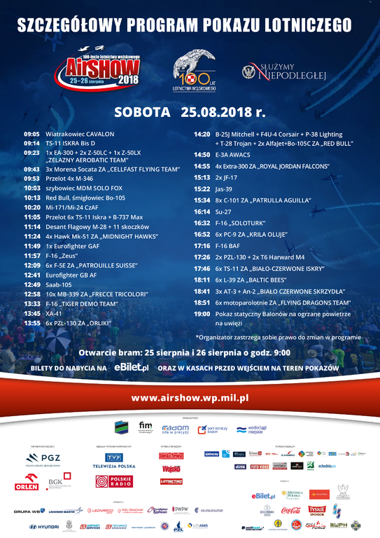 AIR SHOW RADOM 2018 PROGRAM 1