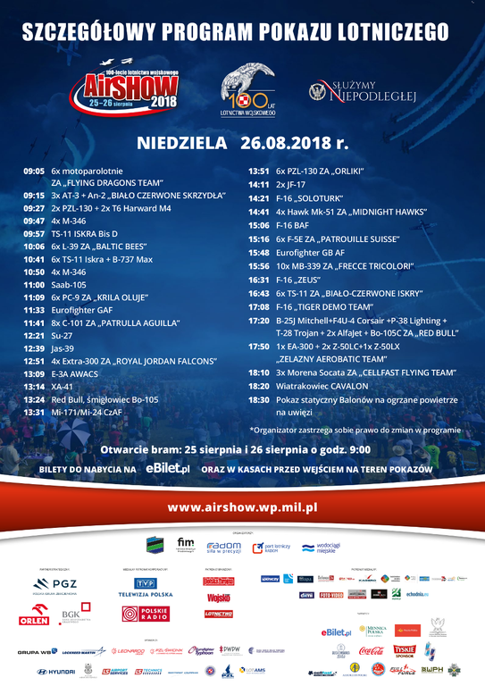 AIR SHOW RADOM 2018 PROGRAM 2